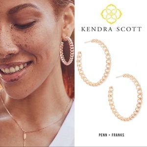 Kendra Scott Fallyn Rose Gold Hoops